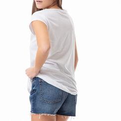T-shirt blanc à imprimé chaussures, Primadonna, 17I702003TSBIANL, 002a