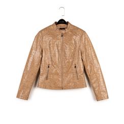 Biker jacket beige in eco-pelle cocco print, NUOVI ARRIVI, 156509104CCBEIGL, 003 preview