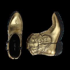 Camperos oro in laminato, Stivaletti, 148900250LMOROG036, 003 preview