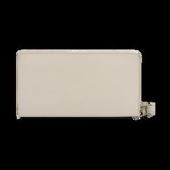 Portafoglio bianco in eco-pelle con laccetto per il polso, Borse, 133723431EPBIANUNI, 004 preview