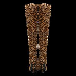 Stivali sopra il ginocchio con tacco 11 cm leopard, Scarpe, 122146868MFLEOP, 003 preview