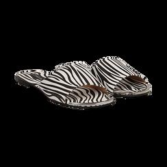 Mules flat zebrate in microfibra, Primadonna, 134989113MFZEBR036, 002 preview