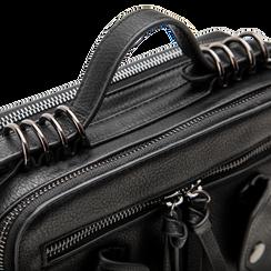 Camera bag con tracolla nera in ecopelle, Saldi, 122440791EPNEROUNI, 004 preview