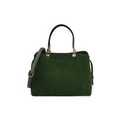 Borsa media verde in microfibra, Primadonna, 16D971608MFVERDUNI, 001 preview