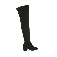 Stivali overknee neri, tacco 6,50 cm , Primadonna, 164911283MFNERO038, 001a