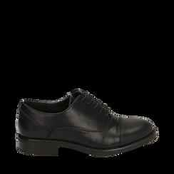 Stringate nere, tacco 4 cm, Primadonna, 160621674EPNERO035, 001a