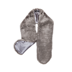Coprispalla in eco-pelliccia grigia, Saldi, 12B414001FUGRIGUNI, 001a