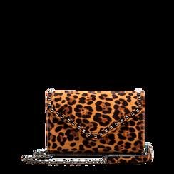 Borsa a tracolla leopard in microfibra, Borse, 123386501MFLEOPUNI, 001a