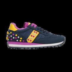 Sneakers blu color block, Scarpe, 122618834MFBLUE, 001 preview