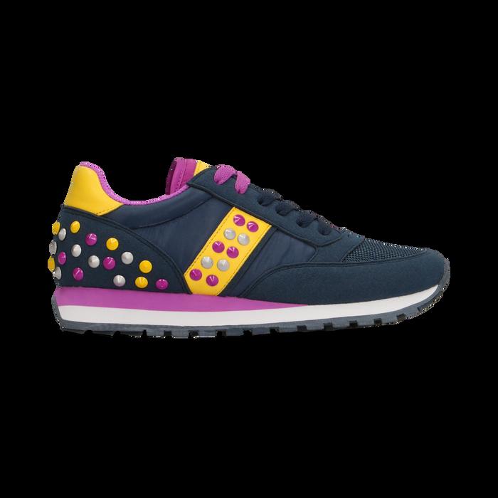 Sneakers blu color block, Scarpe, 122618834MFBLUE