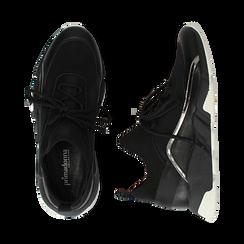 Sneakers nere in lycra con dettaglio effetto mirror, Scarpe, 145019191LYNERO035, 003 preview