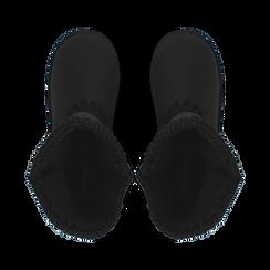Stivali neri in microfibra, Stivaletti, 149901041MFNERO037, 004 preview