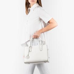 Bolsa de mano en eco-piel color blanco, Primadonna, 155702639EPBIANUNI, 002a
