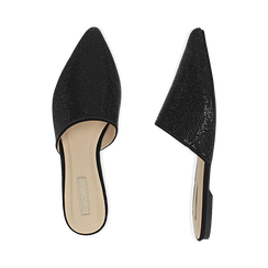WOMEN SHOES SABOT MICROFIBER STONES NERO, Zapatos, 154921861MPNERO036, 003 preview