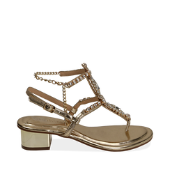 WOMEN SHOES SANDAL LAMINATED OROG, Chaussures, 154927101LMOROG035, 001a