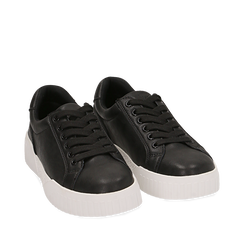 Sneakers en eco-piel color negro, 150620171EPNERO035, 002a