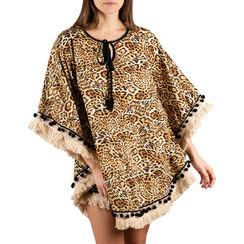 Caftan leopard en tissu , Primadonna, 150500113TSLEOPUNI, 001a
