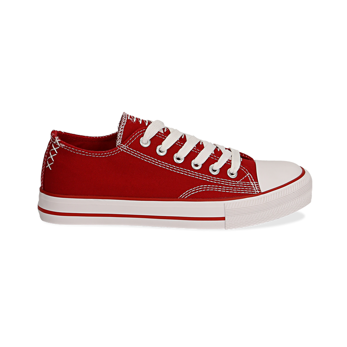 Sneakers rosse in canvas, Scarpe, 137300862CAROSS036