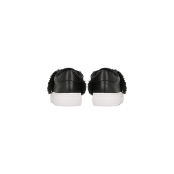 Sneakers nere Slip-on con dettagli faux-fur e borchie, Scarpe, 126103025EPNERO, 003 preview