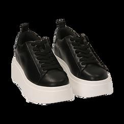 Zapatillas color negro, cuña 6,50 cm , Primadonna, 167505101EPNERO036, 002 preview