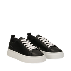 Sneakers de eco-piel color negro, 152500778EPNERO035, 002a