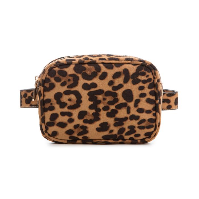 Marsupio leopard in microfibra, Borse, 133322210MFLEOPUNI