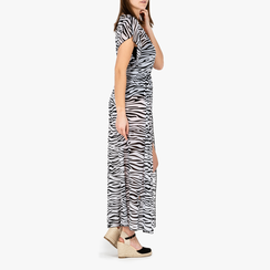 Poncho zebrato in tessuto, Primadonna, 150400013TSNEBIUNI, 002a