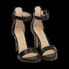 Sandali neri, tacco 11 cm, Primadonna, 152123343EPNERO037, 002 preview