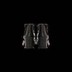 Tronchetti neri con banda elastica, tacco 4 cm, Primadonna, 128900600VINERO036, 003 preview