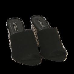 CALZATURA CIABATTE MICROFIBRA NERO, Zapatos, 154970855MFNERO035, 002a