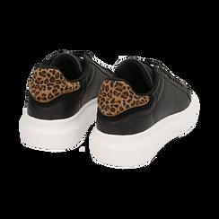 Sneakers nero/leopard , Primadonna, 162602011EPNELE036, 004 preview