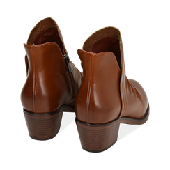 Ankle boots cuoio, tacco 4,50 cm, Primadonna, 150693110EPCUOI036, 004 preview