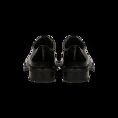 Francesine stringate vernice nera, Scarpe, 120618201VENERO, 003 preview