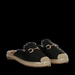 Mules espadrillas nere in eco-pelle , Scarpe, 134951159EPNERO035, 002a