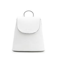 Zainetto bianco in eco-pelle minimal, Borse, 133783137EPBIANUNI, 001a