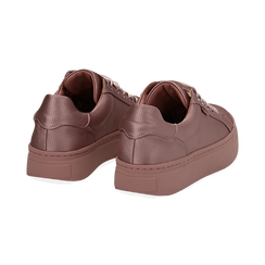 Sneakers nude in tessuto, suola 4 cm  , Scarpe, 142509512TSNUDE035, 004 preview