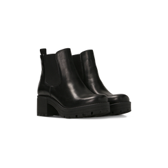 Chelsea Boots neri in vera pelle, tacco medio 5,5 cm, Primadonna, 127723509PENERO, 002 preview