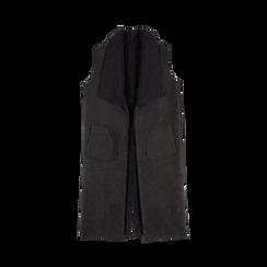 Gilet Eco-Montone Donna Nero, Abbigliamento, 12B400701MFNERO, 001a preview