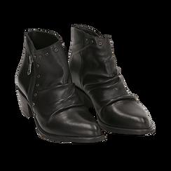 Camperos neri in pelle di vitello, Scarpe, 14A919008VINERO035, 002 preview