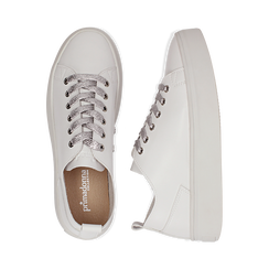Sneakers bianche in eco-pelle, Scarpe, 132500778EPBIAN036, 003 preview