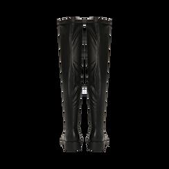 Stivali sopra il ginocchio neri, tacco 3,5 cm, Scarpe, 120681516EPNERO037, 003 preview