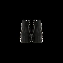 Tronchetti neri con zip, tacco medio 4,5 cm, Scarpe, 122752721EPNERO, 003 preview