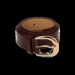 Cintura bordeaux in vernice stampa cocco, Abbigliamento, 144045701VEBORDUNI, 001 preview