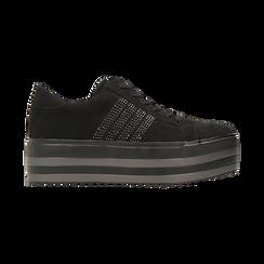 Sneakers nere suola platform multistrato, Scarpe, 122818575MFNERO, 001 preview