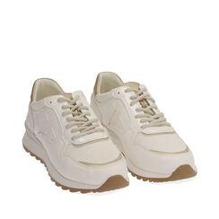 Sneakers bianche in tessuto tecnico, Primadonna, 170200002TSBIAN035, 002a