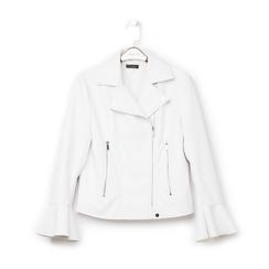 Biker jacket bianca in eco-pelle, con maniche scampanate, Primadonna, 136501875EPBIANL, 001a