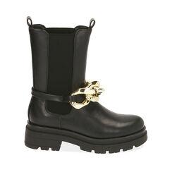 Chelsea boots noires, talon 5 cm , Primadonna, 180610189EPNERO035, 001a