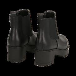 Chelsea boots neri, tacco 6 cm, Primadonna, 162808601EPNERO035, 004 preview
