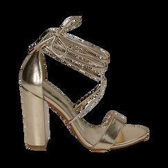 CALZATURA SANDALO LAMINATO OROG, Chaussures, 152760851LMOROG036, 001 preview