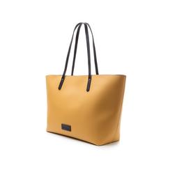 Maxi-bag gialla in eco-pelle con manici neri, Borse, 133783134EPGIALUNI, 004 preview